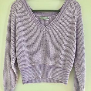 V-neck Lavender Sweater